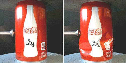 Synopsis: Crumpling Coke Cans