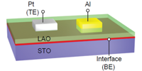 Image for Nonvolatile Resistive Switching in Pt/LaAlO_{3}/SrTiO_{3} Heterostructures